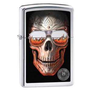 Zippo ジッポ ジッポーライター Anne Stokes Skull with Sunglasses 29108