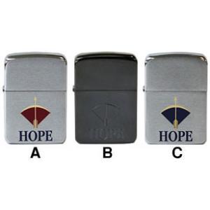 タバコ柄「HOPE」 人気のあるタバコ柄ジッポー。   A.アカ色 2001年製 1941型 やっぱ...