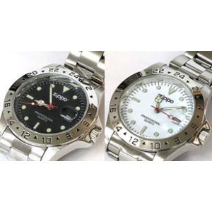 ジッポー社公認「クォーツ時計」 2007年 日本製。CX・Z型。夜光針 日付表示。 A.黒文字盤 限...