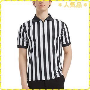 TOPTIE メンズスポーツウェア クォータージッパー付きプロスタイルレフリーシャツ