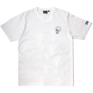 430 FOURTHIRTY / SKULLS V-NECK TEE フォーサーティ Tシャツ|zitensyadepo