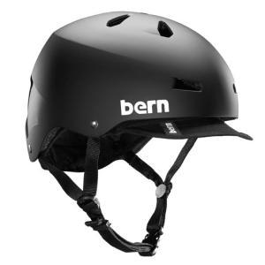 BERN / MACON VISER ALL SEASON MATTE BLACK バーン ヘルメット メーコンバイザー マットブラック|zitensyadepo