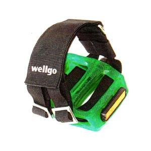 WELLGO W-7 ペダルストラップ / ピストバイク パーツ トーストラップ トリックに最適! マジックテープ調整可!|zitensyadepo