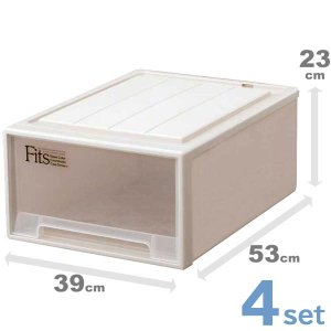 4個セット 収納ケース Fits フィッツケースクローゼット M-53 ( 衣装ケース 収納ボックス fitsケース 天馬 プラスチック )