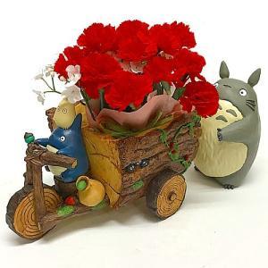 【母の日ジブリギフト】となりのトトロ トトロと森の三輪車カーネーションセット|znet