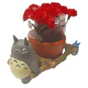 【母の日ジブリギフト】となりのトトロ 花かごわっしょいカーネーションセット|znet