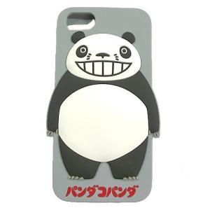 パンダコパンダ シリコンスマホケース(iphone6・6s・7対応) グレー|znet