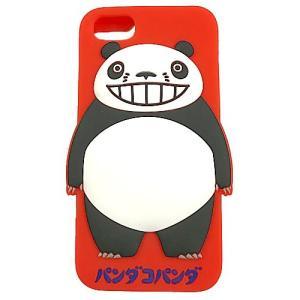 パンダコパンダ シリコンスマホケース(iphone6・6s・7対応) レッド|znet