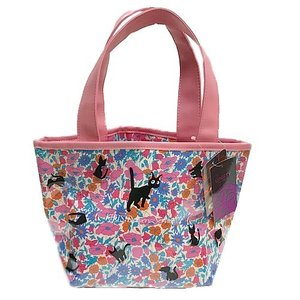リバティプリントのバッグ 魔女の宅急便 ジジガーデンシリーズ ビニールバッグS ピンク znet