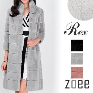 全3色 レッキスファーコート 七分袖 c501|zoee