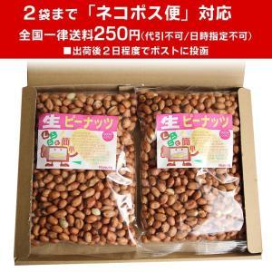 生ピーナッツ1kg(500g×2袋) アメリカ産ピーナツ 無添加 薄皮付 ネコポス便送料無料・込|zokkon|02
