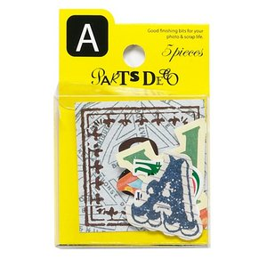 PARTS DECO A パーツデコ ゼットアンドケイ 贈り物 プレゼント ギフト  スクラップブッキング ペーパー アルファベット ミニアルバム 材料 [M便 3/25]|zonart-kamika