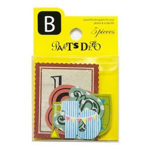 PARTS DECO B パーツデコ ゼットアンドケイ 贈り物 プレゼント ギフト  スクラップブッキング ペーパー アルファベット ミニアルバム 材料 [M便 3/25]|zonart-kamika