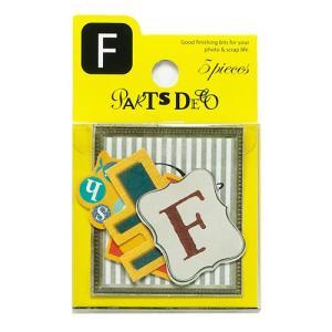 PARTS DECO F パーツデコ ゼットアンドケイ 贈り物 プレゼント ギフト  スクラップブッキング ペーパー アルファベット ミニアルバム 材料 [M便 3/25]|zonart-kamika