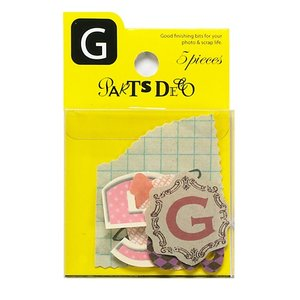PARTS DECO G パーツデコ ゼットアンドケイ 贈り物 プレゼント ギフト  スクラップブッキング ペーパー アルファベット ミニアルバム 材料 [M便 3/25]|zonart-kamika