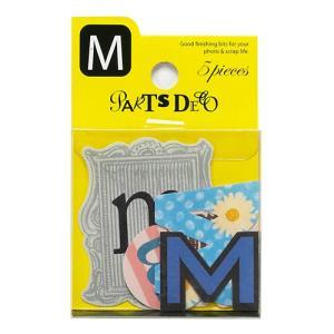 PARTS DECO M パーツデコ ゼットアンドケイ 贈り物 プレゼント ギフト  スクラップブッキング ペーパー アルファベット ミニアルバム 材料 [M便 3/25]|zonart-kamika