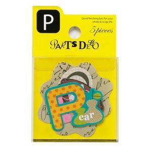 PARTS DECO P パーツデコ ゼットアンドケイ 贈り物 プレゼント ギフト  スクラップブッキング ペーパー アルファベット ミニアルバム 材料 [M便 3/25]|zonart-kamika