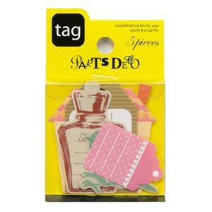 PARTS DECO Tag パーツデコ ゼットアンドケイ 60-797 贈り物 プレゼント ギフト  スクラップブッキング ペーパー ミニアルバム 材料 [M便 3/25]|zonart-kamika