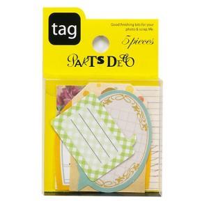 PARTS DECO Tag パーツデコ ゼットアンドケイ 60-799 贈り物 プレゼント ギフト  スクラップブッキング ペーパー ミニアルバム 材料 [M便 3/25]|zonart-kamika
