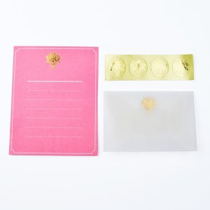 MINI LETTER SET Glassine Letter ミニレターセット ピンク 贈り物 プレゼント ギフト [M便 3/25] zonart-kamika