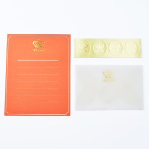 MINI LETTER SET Glassine Letter ミニレターセット オレンジ 贈り物 プレゼント ギフト [M便 3/25] zonart-kamika