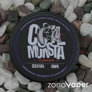 COIL MONSTA(コイルモンスター)SS316L 22〜34AWG 30ft|zonovaper