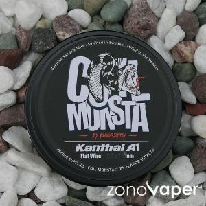 COIL MONSTA(コイルモンスター)Kanthal(カンタル)Flat wire 0.3×0.1mm〜0.6×0.1mm 30ft|zonovaper