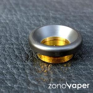 Comp Lyfe(コンプライフ) MINI DRIP TIP(Matte Black /Blass Underneath)|zonovaper