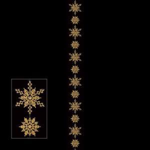 (クリスマス装飾品 オーナメント ガーランド)アソートスノーガーランド x 13(1本/パック)(グリッター) ゴールド(AB100)