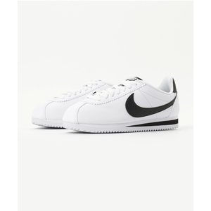 NIKE WMNS CLASSIC CORTEZ LEATHER (WHITE/BLACK-WHIT...