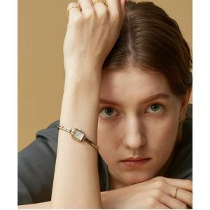 腕時計 スクエアフェイスジュエリーウォッチ 【AGETE15YG2時計】|ZOZOTOWN PayPayモール店