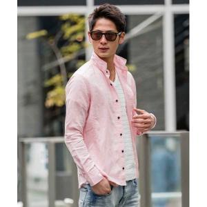 シャツ ブラウス 【雑誌掲載商品】麻シャンブレ−シャツ(衿ワイヤ−)