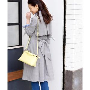 コート トレンチコート Sleek touch ribbon cuffs Trench coat