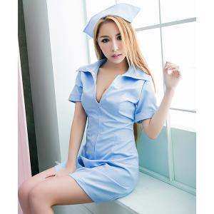 コスプレ [コスプレ] ロング丈ナース服(ナースキャップ・ワンピースセット) バレンタイン衣装