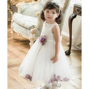 ドレス 花びら揺れるロマンティックベビードレス
