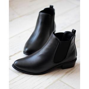 ブーツ 美シルエット、やわらかい履き心地 美脚サイドゴアブーツ