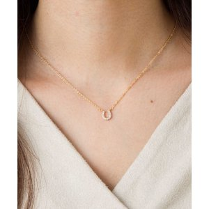 ネックレス 2種CZダイヤホースシューネックレス