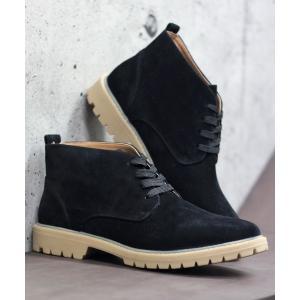ブーツ AAA スエードチャッカショートブーツ(2349)_mns