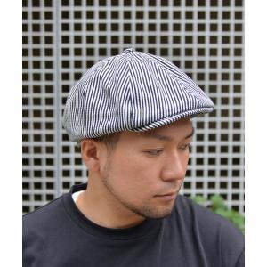 帽子 キャスケット QUARTER GALLERY ヒッコリーハンチングキャスケット