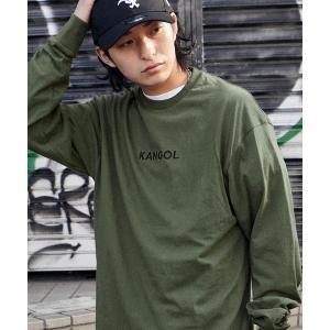 tシャツ Tシャツ KANGOL/カンゴール コラボ 別注ロゴ刺繍 L/S オーバーサイズカットソー -2021SPRING STYLE-|ZOZOTOWN PayPayモール店
