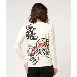 tシャツ Tシャツ 【アンパンマン】和風デザイン愛と勇気長袖Tシャツ おとな