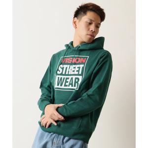 パーカー 【VISION STREET WEAR】マグロゴ&刺繍ロゴパーカー フーディ