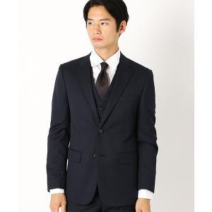 《セットアップ》ウールギャバ スーツジャケット