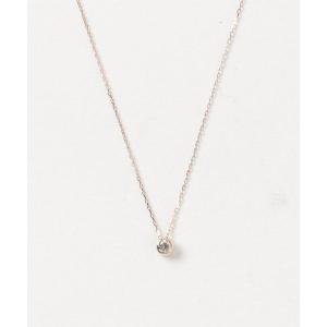 ネックレス K18 一粒ダイヤネックレス