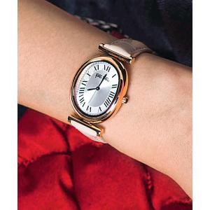 腕時計 METAL CHIC オーバル レザーウォッチ