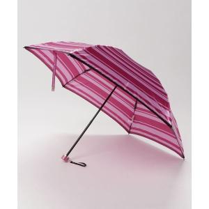 折りたたみ傘 折りたたみ傘 【ワンポイントロゴ ボーダー】