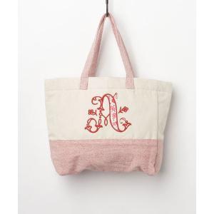 【欧州航路】イニシャル刺繍トートバッグ