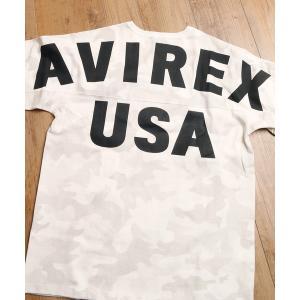 AVIREX /アヴィレックス BIG LOGO LOOSE FIT バックプリント ビッグロゴ ル...