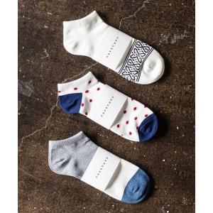 HARUSAKU CC  Men's Sneaker socks 3P set :メンズスニーカーソ...