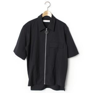 シャツ ブラウス ワンポイント半袖シャツ